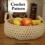 Crochet Puff Basket - Patt..