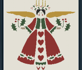 Easy Christmas Angel Cross Stitch Pattern