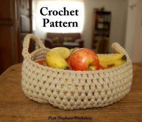 Crochet Puff Basket - Pattern